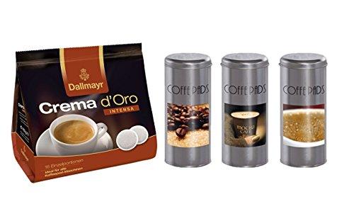 Dallmayr Kaffee Crema d'oro Intensa Kaffeepads+ Kaffeepaddose 18 Pads - Coffe Time 16