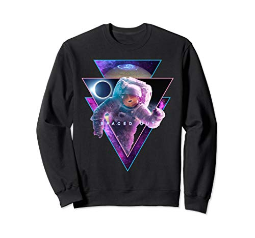 Astronaut Spaced Out - Aesthetic Vaporwave Eclipse Space Art Sweatshirt