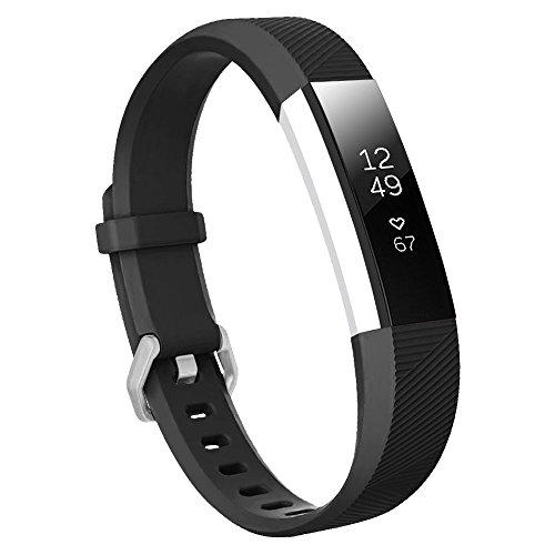 Fit-Power Ersatz-Armband für Fitbit Ace, weich, für Fitbit Ace XS Schwarz