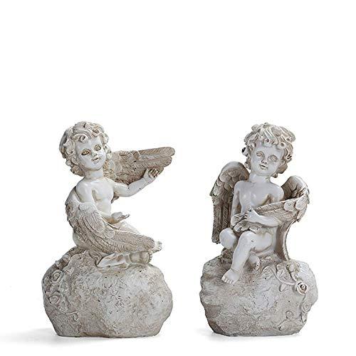 figurine Angel Ange Mini Design Sculpture Ange Gardien Hauteur 10/cm