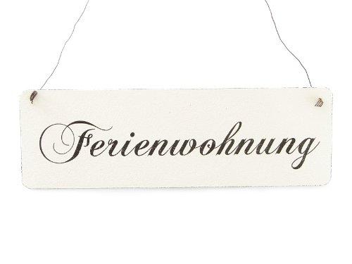 Interluxe Vintage Shabby Schild Türschild FERIENWOHNUNG Holzschild Landhaus Urlaub Ferienhaus