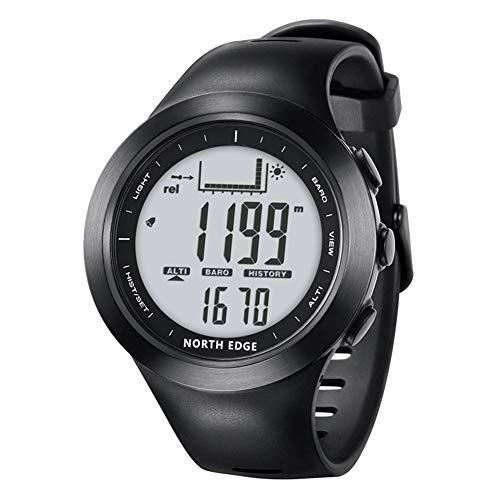 ZYL-YL Multifunktionale Outdoor-Sportarten Wandern Angeln Uhr Barometer 100 Meter Wasserdicht Elektronische Uhr Männlich Schwarz