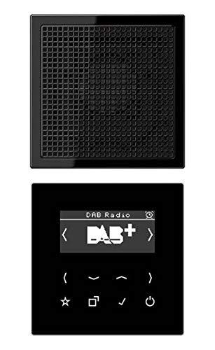 Jung DABLS1SW Smart Radio DAB plus Set Mono mit Lautsprecher Serie LS Schwarz
