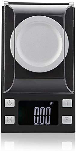 XINGDONG Escala electrónica, báscula de pesaje de cocina digital Escala de miligramas, escala de pólvora de joyería digital para escala de microgramos de recarga con pantalla LCD con luz trase