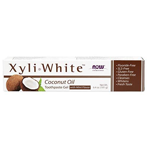 Now Foods Xyliwhite Aceite De Coco Gel Dentífrico - G 200 G, 6.40 oz, Mint Flavor, 181 Gramo