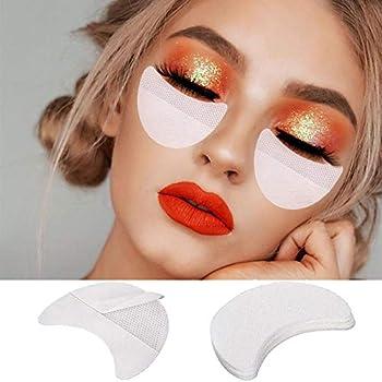 200PCS Professional Eyeshadow Pads Stencils Kalolary Eyeliner Shield Pads Disposable Eyeshadow Shields Protector for Eyelash Extension Grafting Under Eye Eyelashes Lip Makeup Pads Shield