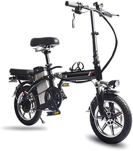 Alta velocidad 14' bicicleta eléctrica / plegable E-Bike / conmuta bicicletas con marco plegable de la aleación, batería de litio de 48V de iones de litio recargable de la batería de bicicletas Playa
