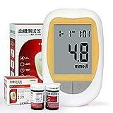 Breathalyzer Blood Glucose Monitor Health Aid glucómetro 50PCS Tiras reactivas lancetas Kit Medidor de azúcar en la Sangre Diabetes Tester