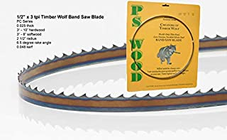 """PS Wood Timber Wolf 145"""" x 1/2"""" x 3 tpi Band Saw Blade"""