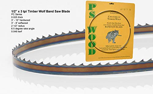 PS Wood Timber Wolf 70 1/2 x 1/2 x 3 tpi band saw blade