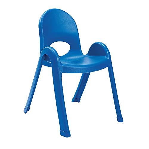 Angeles Value Stack - Silla para niños, preescolar, guardería/muebles de sala de juegos, asientos flexibles para el aula para niños, color azul, 13 pulgadas
