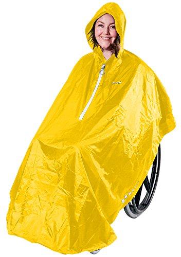 GOTITA – Der Poncho für den Rollstuhl – Der vielfältig einsetzbare Regenschutz für den Rollstuhl – einfache Handhabung, leichtes An- und Ausziehen – italienisches Design (Gelb)