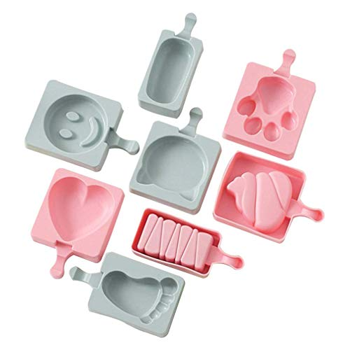 YGB Moule à Popsicle en Silicone Moule à Popsicle Mini A1 Ensemble de moules à Popsicle de Cuisine, Moule à glaçons Moule à Billes Sphère Silicone Ice Rounds Maker, Popsicle Maker, Ice Tray Moulds