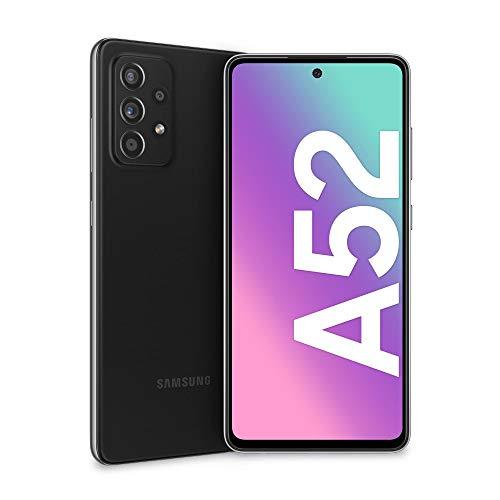 Samsung Galaxy A52 Smartphone, Display Infinity-O FHD+ da 6,5 pollici, 6 GB RAM e 128 GB di memoria interna espandibile, Batteria 4.500 mAh e ricarica Ultra-Rapida Black [Versione Italiana]