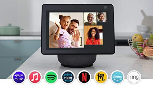 Nouvel Echo Show 10 (3e génération), Écran connecté HD avec mouvement et Alexa, Anthracite
