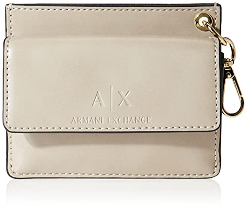 Armani Exchange Vania Mini Wallet, Travel Accessory-Portafoglio da Viaggio Donna, Cachemire, Taglia unica
