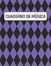 Cuaderno De Musica: 110 páginas |  Con 12 Pentagramas Por Página | Adecuado Para Escribir Notación Musical | 21,59 cm x 27,94 cm (sobre a4) (Spanish Edition)