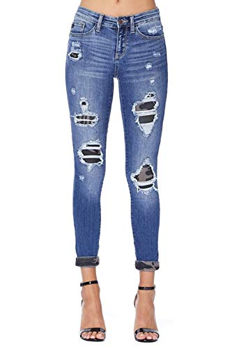 Judy Blue Jeans Camo Patch Mid Rise Skinny (28/7)