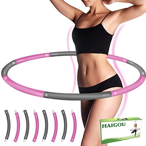 Hula Hoop Reifen Erwachsene Die Zur Gewichtsreduktion und Massage Verwendet Werden KöNnen 1,4 kg, 6-8 Segmente Abnehmbarer Hoola Hoop Reifen Geeignet Für Fitness/Sport/Zuhause/BüRo/Bauchformung