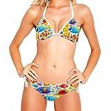 ATOMO Amazing Sea Fish Mujeres Bikinis Traje de baño Bikini Set Natación