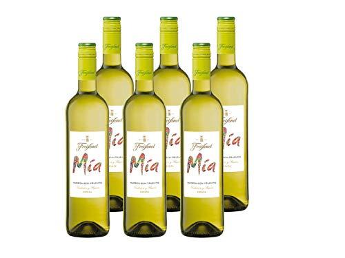 Freixenet Mia Blanco Wein, Halbtrocken, 11,5{63215584c91ab116f88108740c10fb4b8a8ec62d6ed0c7c5f5a6f97d1d59a7de} Alkohol (6 x 0,75 l Flaschen) – Cuvée aus Weißweinen der Weinreben Spaniens