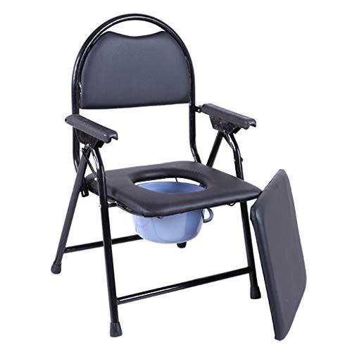 ZXXX Medische opvouwbare nachtkastje commode stoel met commode emmer en splash guard draagbare commode verhoogde wc stoel voor ouderen
