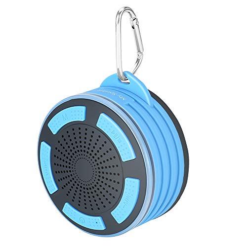 Ducha Altavoz IP67resistente al agua a prueba de polvo a prueba de golpes portátil pequeño Altavoz Bluetooth estéreo de graves profundos con micrófono LED luces y desmontable ventosa