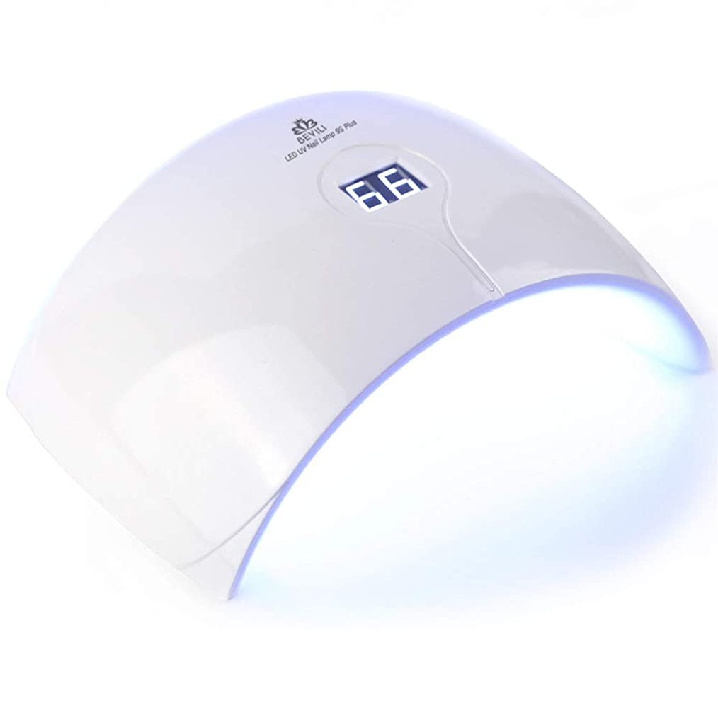 句読点弾丸アーカイブZHQI-NAIL 新しい36ワットuv ledランプネイルドライヤー用すべてのタイプジェル15 led uvランプ用ネイルマシン硬化ユニバーサル手と足 (Color : White, Size : US plug)