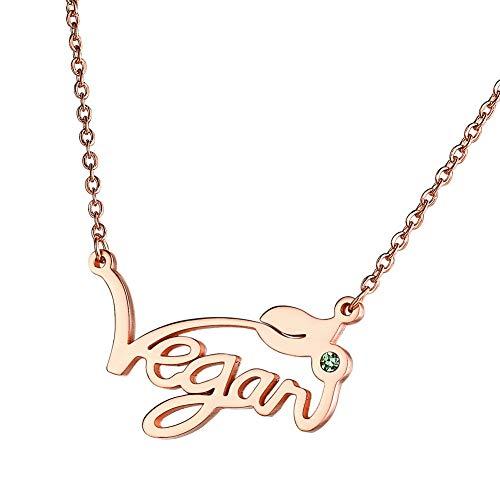 HengYing Collana Vegetarian Vegan Simbolo Regalo per Vegetariani