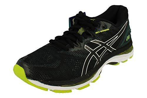 Asics Gel-nimbus 20, Men's Competition Running Shoes, Black (Black/Neon Lime 004), 7 UK (41.5 EU)