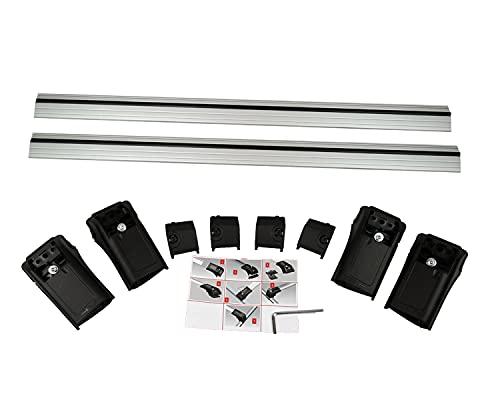 Baca portaequipajes transversal compatible con barras de techo OEM para Seat Alhambra 7N 2010 V1DT-GR