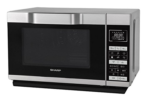Sharp Home Appliances R861S Kombi-Mikrowellenherd, 25 l, 900 W, silber, Mikrowelle (freistehend, Kombi-Mikrowellenherd, 25 l, 900 W, berührungsempfindliche Oberfläche, silber