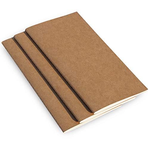 3er Set undatierte Reisetagebuch Kalender Einlagen, geeignet für Leder-Reisetagebücher, Notizbücher oder Planner - 3 x 26 Wochen - 21cm x 11cm