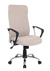 SixBros. Chefsessel Bürostuhl Drehstuhl Schreibtischstuhl Weiß H-935-6/1320