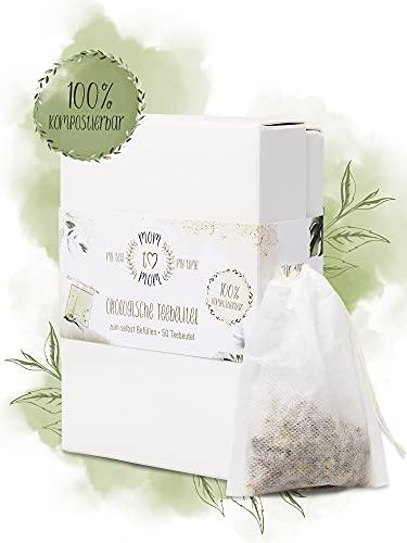 Mom to Mom® Teebeutel für losen Tee - Ökologische Teefilter (50 Stk.) - Ideal auch als Tee Geschenk - 100% kompostierbar - Tee lose - Tea Bags