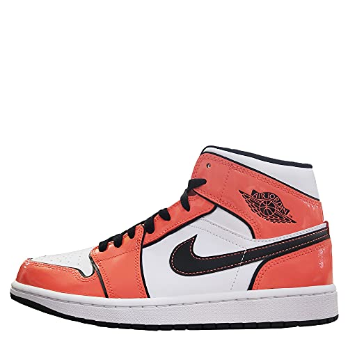 Nike Air Jordan 1 Mid DD6834-802 Herren-Sportschuhe, Orange/Schwarz-Weiß (Turf Orange/Black White), Rasen orange/schwarz-weiß, 43 EU
