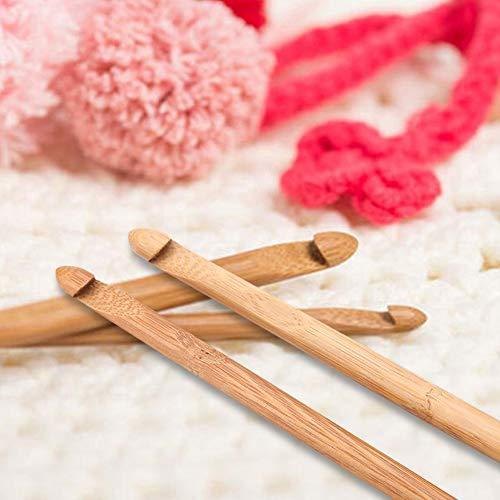 URRNDD Crochet Circular de bambú, Mango cómodo Profesional, 44 Piezas, Aguja de Coser, con Estuche de Almacenamiento para la Herramienta de Tejer Crochet, Cualquier Uso doméstico de Crochet