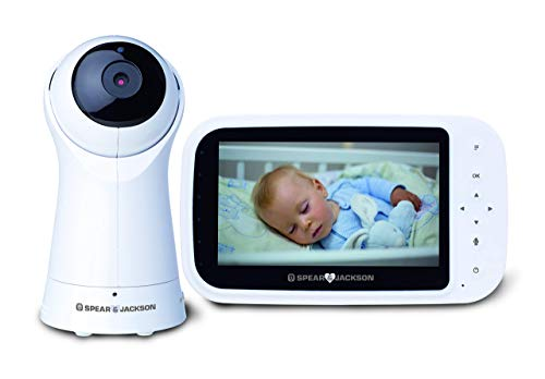 Spear & Jackson Video Baby Monitor 5' LCD Screen, Anti-Hack Encryption, Two...