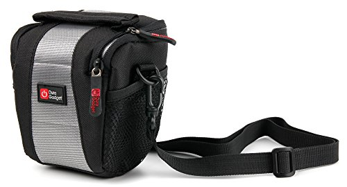 DURAGADGET Water-Resistant Black & Grey Cross-Body Carry Bag - Compatible with Air Hogs Helix Race Drone 2.4GHz RC Vehicle