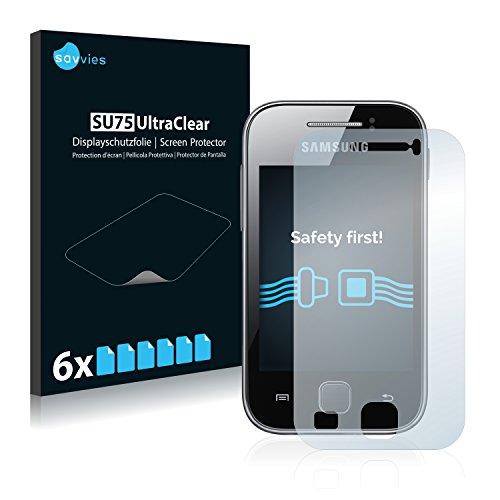 savvies 6-Pezzi Pellicola Protettiva Compatibile con Samsung GT-S5369 Protezione Schermo Trasparente