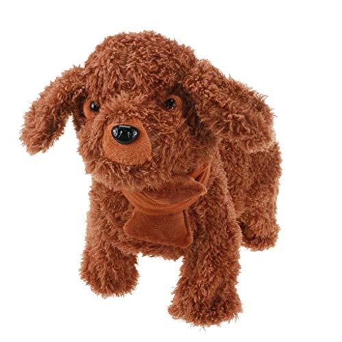 Briskorry Fleece Teddy Hundespielzeug Lucky Electric Plüsch Hündchen Smart Walking Roboter Hund Kinderspielzeug für Kinder