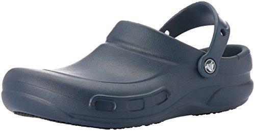 Crocs Men's and Women's Bistro Clog | Slip Resistant Work Shoe, Navy, 8 Women / 6 Men