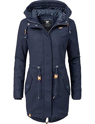 Ragwear Damen Wintermantel Winterparka Elba Coat A Blau Gr. S