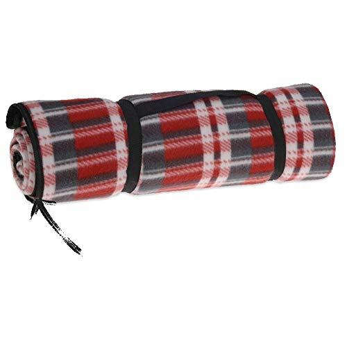Storepoint Coperta Picnic Telo Campeggio Impermeabile - 150 x 130 cm - Rosso Scottish