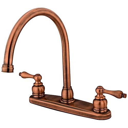 Kingston Brass KB726ALLS Victorian 8-Inch Centerset Kitchen Faucet, 8-3/4 inch in Spout Reach, Antique Copper