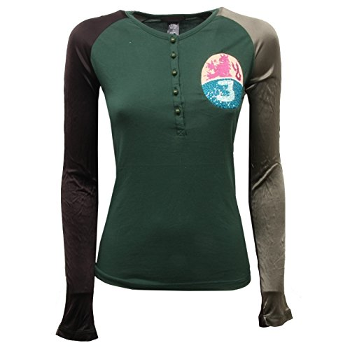 Custo C8614 Maglia Donna Barcelona Verde Green t-Shirt Woman [1/S]