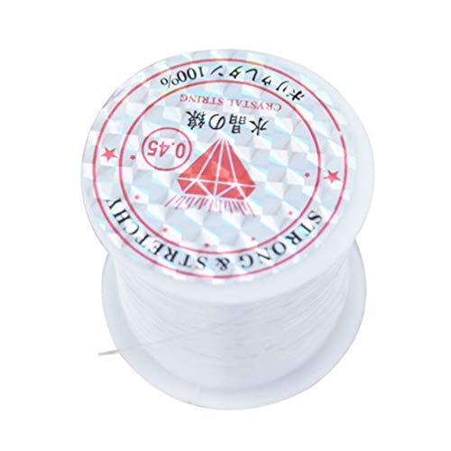 Artibetter 0. 45Mm Elastische Stretch Kristal Koord Kralen Draad Armband Kralen Platte Draad Stof Crafting Koord Voor Diy Sieraden Maken Armbanden (Helder)