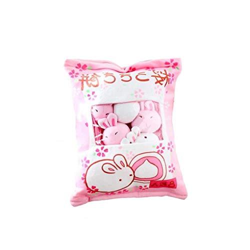 fedsjuihyg Bag Plüsch Mini Dolls Pudding Gefüllte Spielzeug Simulation Innovative Snacks Puppe-weiches Sofa-Kissen für Hauptdekor (Hase)