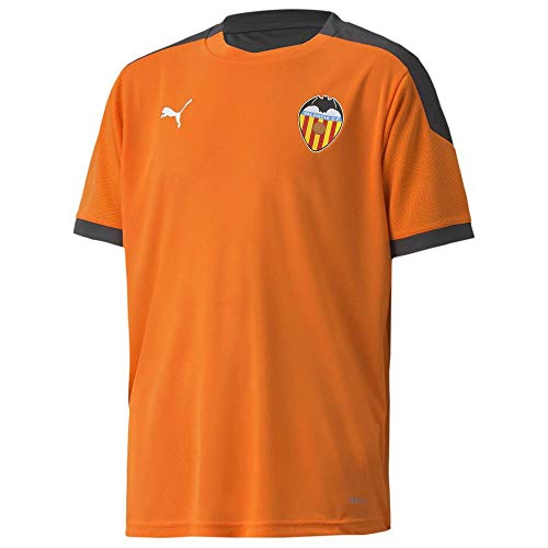 PUMA Valencia CF Temporada 2020/21-Training Jersey Jr Vibrant Orange-As Camiseta, Niño, Naranja, 128