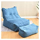 NNIU 2 unids/Set Gran Bolsa de Frijoles combinación sofás sillas sillas sin Bolsa sin Forro sin llenado Interior Perezoso Tumbona Adultos niños Simple diseño